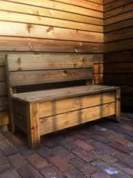 Diy Outdoor Storage Bench Plans by Plans For Deck Bench Which Allows Storage Space For Seat Cushions
