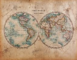 Vintage World Map Canvas by Vintage Posters 15 Stylish Wall Decor Ideas With A Touch Of The