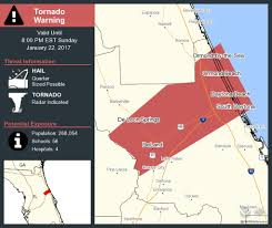 Florida Tornado Map by Nws Melbourne On Twitter