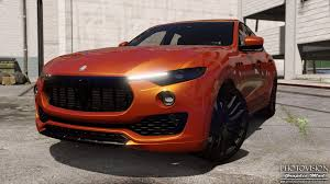 maserati levante red maserati levante add on replace gta5 mods com