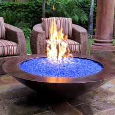 Gas Fire Pit Table And Chairs What Is Fire Glass And How Does It Work I Portable