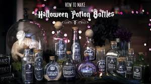 how to make halloween potions bottles youtube