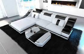 sofa l form leather sectional sofa turino l shape with led lights design sofa