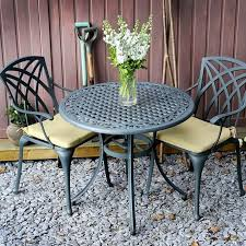 Cast Aluminium Outdoor Furniture by Hannah 90cm Round 2 Seater Cast Aluminium Patio Set Lazy Susan