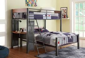 Two Bunk Beds Mixing Work With Pleasure Loft Beds With Desks Underneath