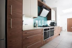 number eighty one veneered walnut lacquered flat slab kitchen