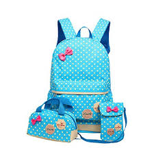 book bags with bows moonwind polka dots bow 3pcs kids book bag school
