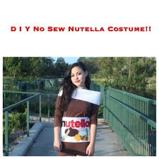 d i y no sew nutella costume youtube