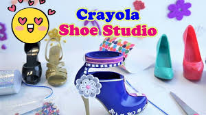 design your shoes crayola shoe studio unboxing create your own designer shoes
