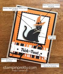stampin up halloween stamps new cat punch is the cat u0027s meow stampin u0027 pretty