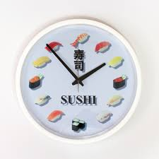 Wall Clock Design Eigo Rakuten Global Market Sushi Design Watch I Love Sushi Wall