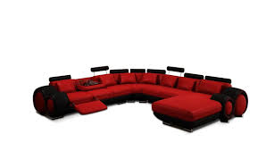 Red And Black Sofa by Divani Casa 4084 Contemporary Red And Black Sectional Sofa