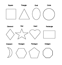 Picture Of Basic Shapes Coloring Page Netart Coloring Pages Shapes