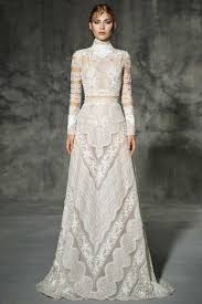 wedding dress high neck sleeve high neck lace a line lace sweep brush lace
