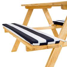 picnic table seat cushions adorable kids picnic table bench set childrens bench cushions