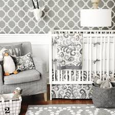 urban ikat in gray crib baby bedding by new arrivals