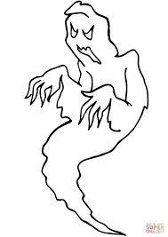 ghost coloring page free printable coloring pages