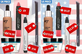 buy boots cosmetics australia brits pay more than the price for boots no7 products