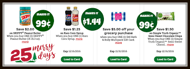 kroger 25 merry days high value coupons for simple