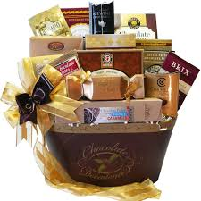 chocolate gift basket chocolate decadence gourmet gift basket gourmet