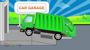 lightning mcqueen monster truck videos garbage truck clean lightning mcqueen car cars garage video