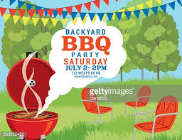 summer bbq party invitation template vector art getty images