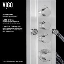 vigo vg08008 stainless steel mateo shower panel system with hose