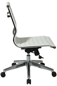 73633 office star modern mid back white eco leather chair