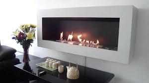 ethanol fireplace be150 afire with remote controlled automatic