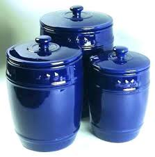 blue kitchen canisters blue kitchen canisters savings on and ivory set of 4 320x400 6