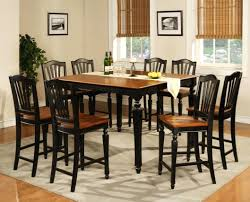 high top dining room table sets tables with bench height end leaf