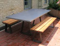 Custom Contemporary Outdoor Table With Custom Steel Base - Designer outdoor tables