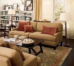 living room pottery barn living room ideas brown polyester sofa