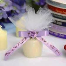 personalized ribbon for baby shower personalized custom printed votive candle 24pcs efavormart
