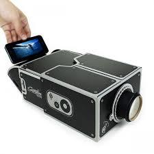 smart phone diy cardboard type projector black