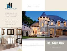 millennium home design windows millennium custom windows doors