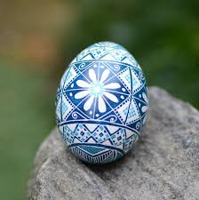 egg ornaments blue pysanka egg ukrainian easter egg baby boy baptism keepsake