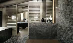river rock bathroom ideas bathroom designs black vanity mix white marble sink