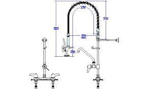 delta 55t1283 commercial deckmount double handle pre rinse kitchen
