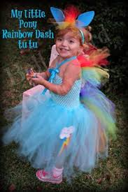 Pony Rainbow Dash Halloween Costume Pony Fluttershy Inspired Tutu Dress Cutie Mark
