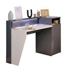 bureau gris laqué meuble bureau et ordinateur pas cher but fr
