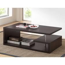Modern Living Room Tables Amazon Com Baxton Studio Lindy Modern Coffee Table Dark Brown