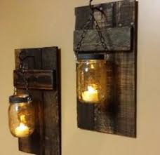 Rustic Candle Sconce Rustic Wood Candle Holder With Lantern 12