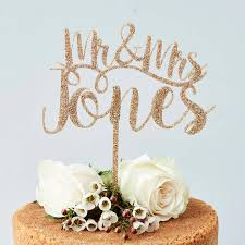 mr mrs cake topper personalised mr and mrs cake topper by