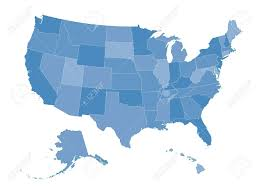 Detailed Map Of The United States Highly Detailed Map Of The United States All States Are Separate