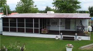 How To Make A Camper Awning Trailer Deck Enclosure System Screen Room For Trailer Decks