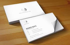 white business card template beautiful white business card
