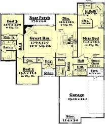 startling 4 1800 square foot single level house plans country sq