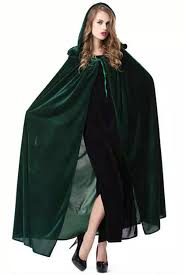 witch costumes green vire cloak womens witch costume