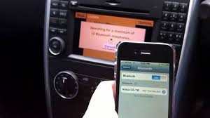 how to pair an apple iphone 4 with mercedes benz b class w245